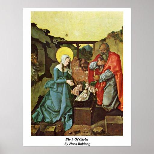 Nacimiento de Cristo de Hans Baldung Impresiones