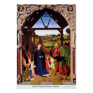 Nacimiento de Cristo de Petrus Christus Póster