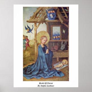 Nacimiento de Cristo de Stefan Lochner Póster