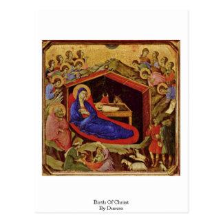 Nacimiento de Cristo por Duccio Tarjetas Postales