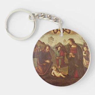 Nacimiento de Cristo, Tondo de Pedro Perugino Llaveros