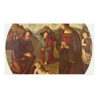Nacimiento de Cristo, Tondo de Pedro Perugino Plantilla De Tarjeta De Negocio