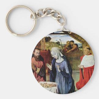 Nacimiento de Cristo y el Rolin cardinal de Jean e Llavero