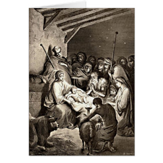Nacimiento de Jesús Tarjeta De Felicitación