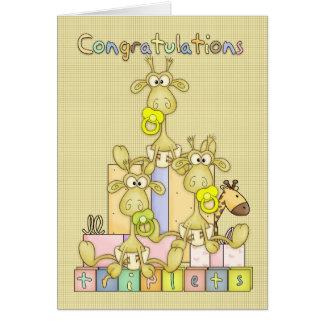 Nacimiento de la enhorabuena de la tarjeta de feli