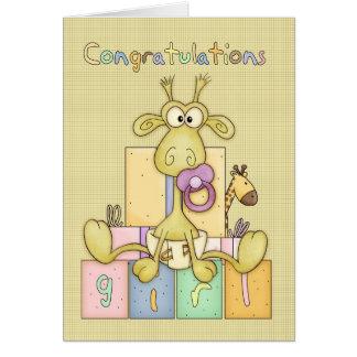 Nacimiento de la enhorabuena de la tarjeta de la n