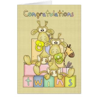 Nacimiento de la enhorabuena de la tarjeta de los