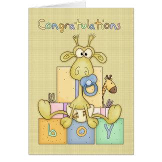 Nacimiento de la enhorabuena de la tarjeta del beb