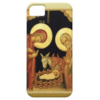 Nacimiento de la escena del establo de Jesús Funda Para iPhone 5 Barely There