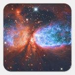 Nacimiento de la estrella en el Cygnus de la Pegatina Cuadrada