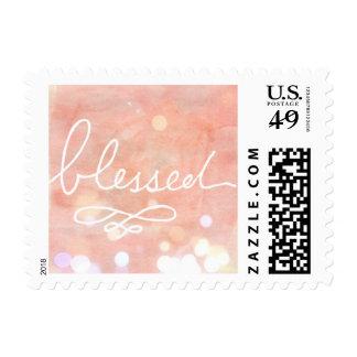 Nacimiento de la niña o invitación bendecido del timbres postales