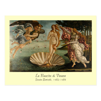 Nacimiento de la postal de Venus