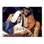 Nacimiento de la postal del navidad de Jesús