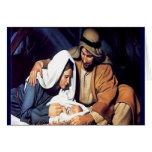 Nacimiento de la tarjeta de Navidad de Jesús