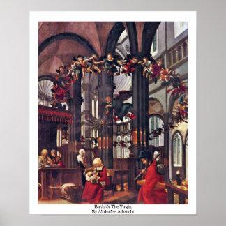 Nacimiento de la Virgen de Altdorfer, Albrecht Poster