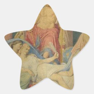 Nacimiento de las musas de Jean Auguste Dominique Pegatina En Forma De Estrella