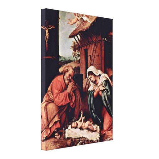 Nacimiento de Lorenzo Lotto - de Christs Impresión En Lona