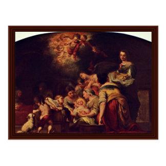 Nacimiento de Maria de Murillo Bartolomé Esteban P Tarjeta Postal