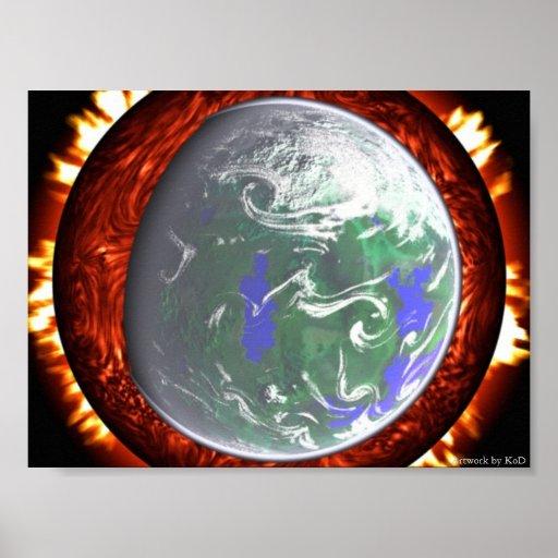 Nacimiento de nuestro mundo impresiones