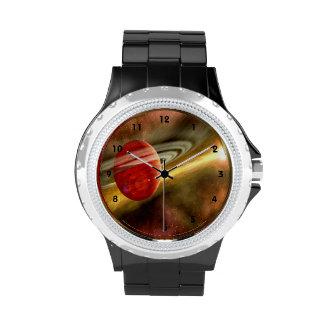 Nacimiento de Saturn con el clockface Reloj