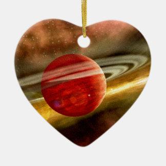 Nacimiento de Saturn Adorno De Cerámica En Forma De Corazón