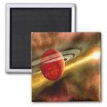 Nacimiento de Saturn Imán Cuadrado