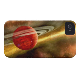 Nacimiento de Saturn iPhone 4 Case-Mate Protectores