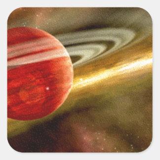 Nacimiento de Saturn Pegatina Cuadrada