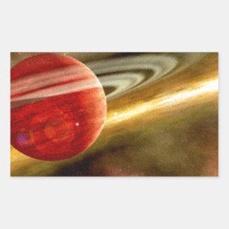 Nacimiento de Saturn Pegatina Rectangular