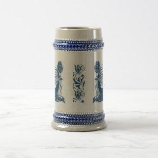 Nacimiento de un dragón Stein - azul Jarra De Cerveza