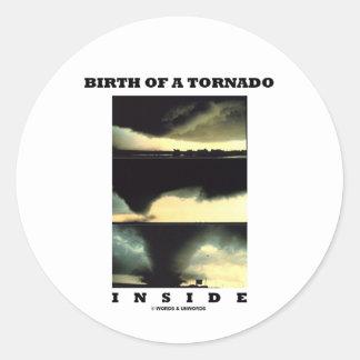 Nacimiento de un interior del tornado meteorologí pegatina