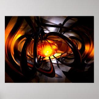 Nacimiento de un poster abstracto de Sun Póster