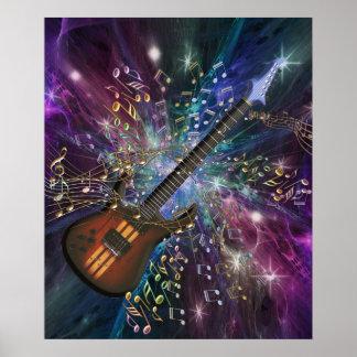Nacimiento de un poster de la música del espacio