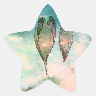 Nacimiento de un Triffid Pegatina En Forma De Estrella