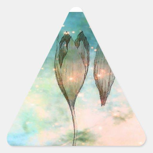 Nacimiento de un Triffid Pegatina Triangular