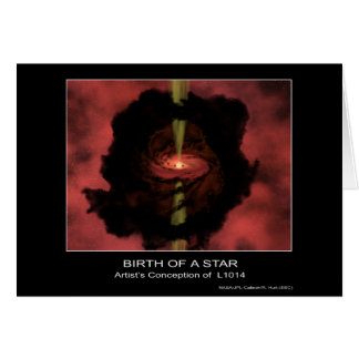 Nacimiento de una estrella - el concepto del artis felicitaciones