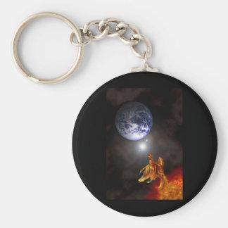 Nacimiento de una Phoenix Llavero Redondo Tipo Pin