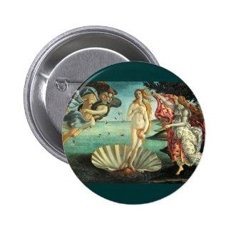 Nacimiento de Venus, 1485 Pin Redondo 5 Cm