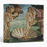 """Nacimiento de Venus de Sandro Botticelli Carpeta 1 1/2"""""""