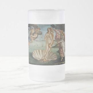 Nacimiento de Venus de Sandro Botticelli Jarra De Cerveza Esmerilada