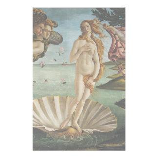 Nacimiento de Venus de Sandro Botticelli Papelería De Diseño