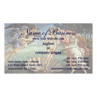 Nacimiento de Venus de Sandro Botticelli Plantillas De Tarjetas De Visita