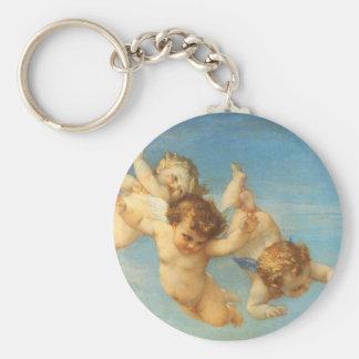 Nacimiento de Venus, detalle de los ángeles por Llavero Redondo Tipo Pin