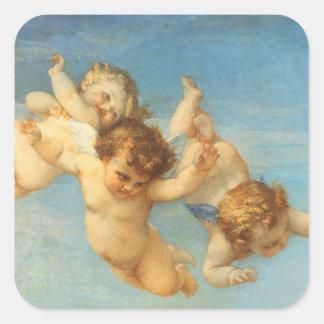 Nacimiento de Venus, detalle de los ángeles por Pegatinas Cuadradas Personalizadas