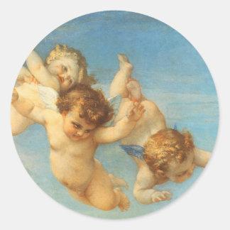 Nacimiento de Venus, detalle de los ángeles por Etiqueta Redonda