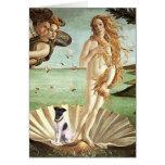 Nacimiento de Venus - fox terrier liso Tarjetón