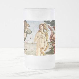 Nacimiento de Venus Jarra De Cerveza Esmerilada