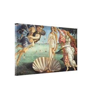 Nacimiento de Venus por Botticelli arte renacenti Impresión En Lona