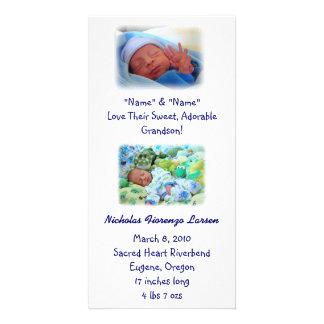 Nacimiento del bebé de las invitaciones del nacimi tarjetas fotográficas