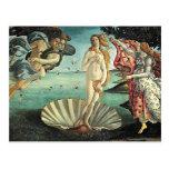 nacimiento del botticelli del venus postales